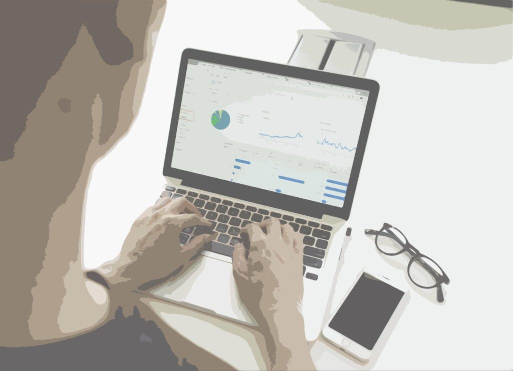 Data officer using laptop to manage data privacy and records with RegTech