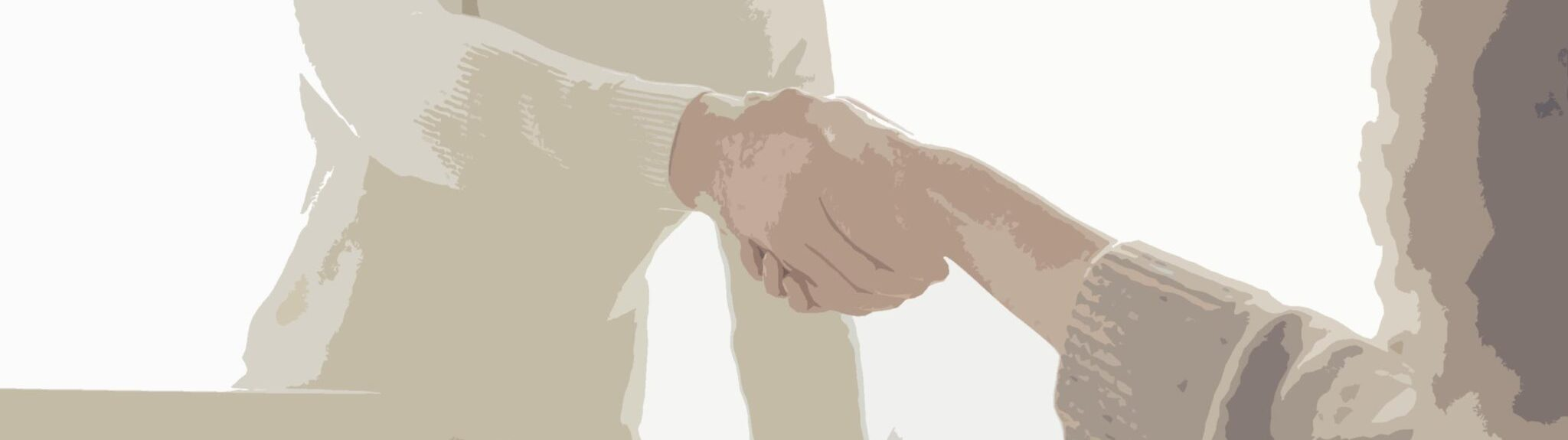 Colleagues shake hands after securing senior stakeholder buy-in